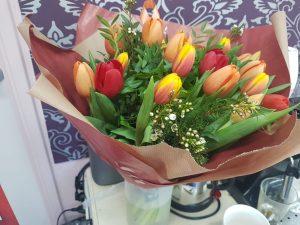 Bloemen voor kapster